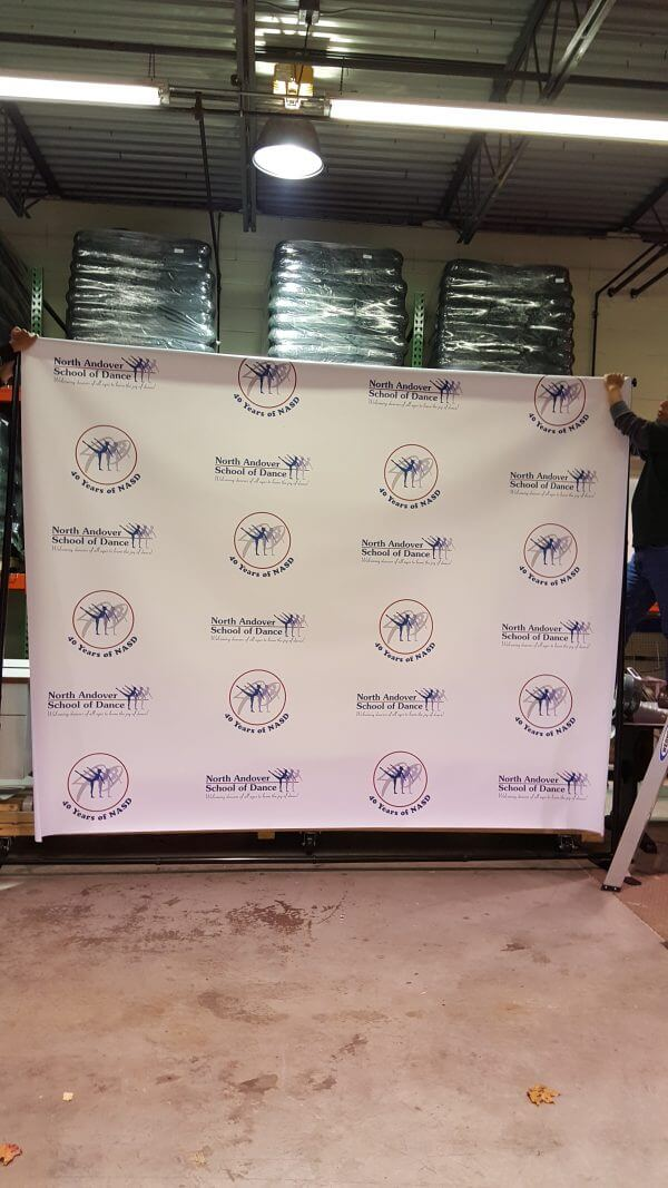 Giant banner backdrop and stand 10'x10