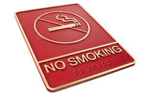No-smoking ADA Sign