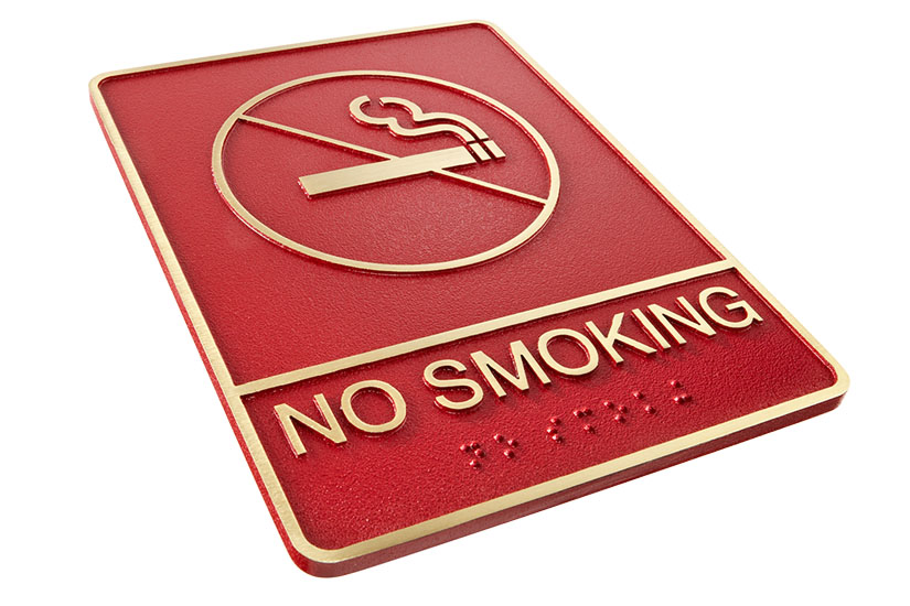 No-smoking ADA Sign