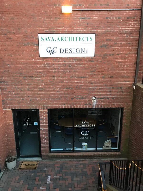 Newburyport MA Sign Project for Sava Architect