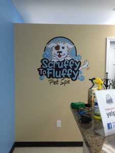 Scruffy to Fluffy Pet Spa Wall Logo