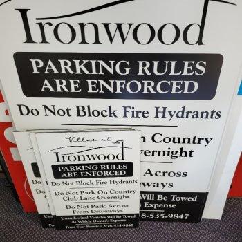 Parking Sign enforcing rules